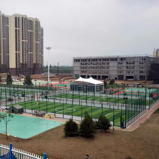 陕西韩城钢结构笼式足球场